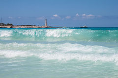 Morze w San Vito Lo Capo plaży Fotografia Royalty Free