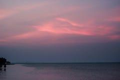 Morze w wieczór Zdjęcie Stock