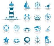 Morze & wybrzeże ikony - Iconset - ilustracji