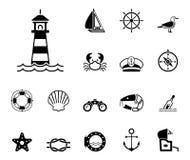Morze & wybrzeże ikony - Iconset - royalty ilustracja
