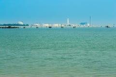 Morze z elektryczną elektrownią, Tajlandia Obrazy Royalty Free