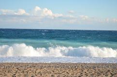 Morze z fala w wietrznej pogodzie Zdjęcie Stock