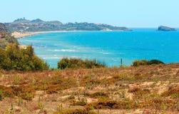 Morze zatoka w Torre Di Gafa, Agrigento, Sicily, Włochy Obraz Stock