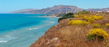 Morze zatoka w Torre Di Gafa, Agrigento, Sicily, Włochy Fotografia Stock