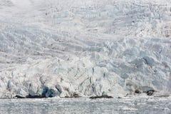 Morze zatoka z lodowem i górami lodowa w Svalbard, Spitsbergen Obrazy Royalty Free