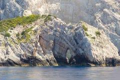 Morze zawala się na Zakynthos Fotografia Stock