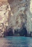 Morze zawala się na Zakynthos Zdjęcie Royalty Free