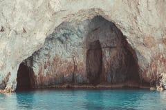 Morze zawala się na Zakynthos Zdjęcia Stock