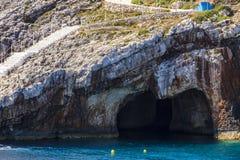 Morze zawala się na Zakynthos Fotografia Royalty Free