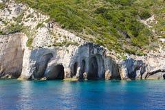 Morze zawala się na Zakynthos Obrazy Stock