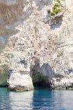 Morze zawala się na Zakynthos Zdjęcia Royalty Free