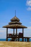 Morzem nieociosana chałupa Zdjęcia Royalty Free