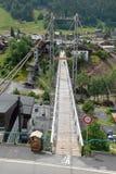 The Morzine footbridge royalty free stock photo