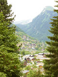 Morzine mountain view landscape in the Alps Stock Image