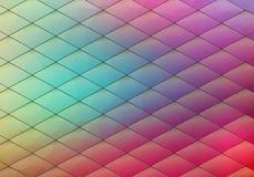 与菱形的五颜六色的几何背景 被弄脏的梯度mos 库存照片