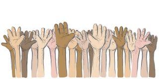 Mãos acima Fotos de Stock