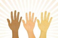 Mãos acima Fotos de Stock Royalty Free