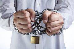 Mãos acorrentadas Imagem de Stock Royalty Free