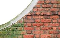 Mos bevlekte muur Stock Foto