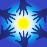 Mãos da energia da cura Foto de Stock Royalty Free