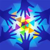 Mãos da energia da cura Fotografia de Stock Royalty Free