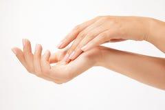 Mãos da mulher bonita Fotografia de Stock Royalty Free