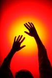 Mãos do disco Fotos de Stock Royalty Free