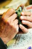 Mãos do mestre Foto de Stock Royalty Free