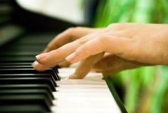 Mãos do piano   Imagens de Stock