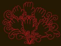 Mãos do redemoinho Fotos de Stock Royalty Free