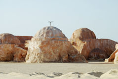 Mos Espa Star Wars film set in Sahara Desert, Tunisia Royalty Free Stock Photo
