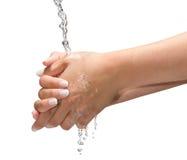 Mãos molhadas Imagem de Stock