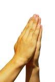 Mãos na oração Imagem de Stock