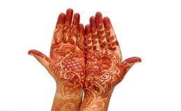 Mãos nupciais bonitas Fotos de Stock Royalty Free