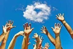 Mãos para o coração da amizade para o amor Fotografia de Stock Royalty Free