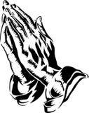 Mãos Praying/eps Fotografia de Stock