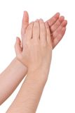 Mãos que aplaudem Imagem de Stock