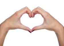 Mãos que dão forma ao coração Foto de Stock Royalty Free