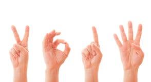 Mãos que formam o número 2014 Imagens de Stock