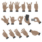 Mãos que gesticulam o grupo Fotos de Stock Royalty Free