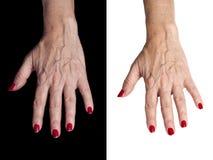 Mãos sênior Fotos de Stock