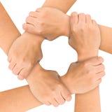 Mãos unidas Fotos de Stock Royalty Free