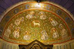 Mosaïque, abbaye du Dormition de l'abbaye de Dormition, vieille ville, le mont Sion, Jérusalem image stock