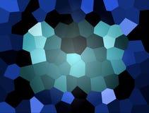 Mosaïque abstraite bleue Images stock