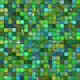 Mosaïque abstraite verte de tuile Photographie stock libre de droits