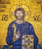 Mosaïque antique du Christ dans Hagia Sophia, Istanbul Image stock