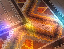 Mosaïque avec des réflexions colorées Photo stock