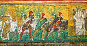 Mosaïque avec trois Rois mages Image stock
