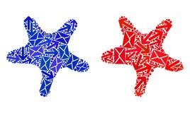 Mosaïque Bent Star Icons du trafic de courrier illustration de vecteur