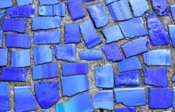 Mosaïque bleue Images stock
